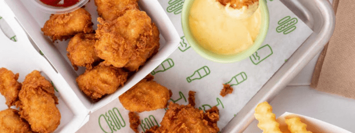 Shake Shack Chick 'n Bites with French Fries and Sauce